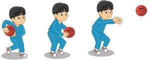 Melempar bola dari bawah permainan bola basket