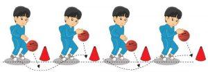 Menggiring bola basket 3