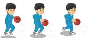 Menggiring bola permainan bola basket