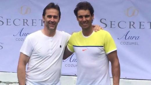 Julen Lopetegui rendeu-se a Nadal (e Federer)