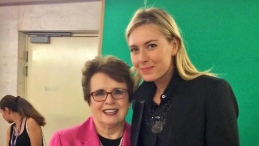 Billie Jean King alerta para conclusões precipitadas no caso Sharapova