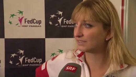 Bacsinszky chora após derrota humilhante mas Suíça mantém-se viva graças a estreante