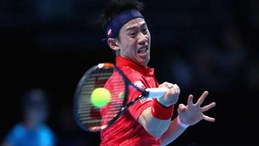Wawrinka revela-se presa fácil para Nishikori em Londres