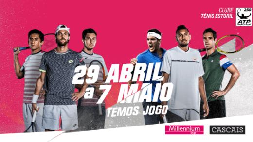 Primeiro dia do Estoril Open 2017 com três portugueses no Estádio Millennium