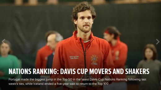 Taça Davis destaca o melhor ranking de SEMPRE de Portugal na prova