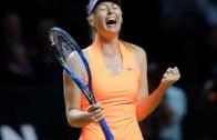 Sharapova batiza regresso à competição com triunfo sobre Vinci