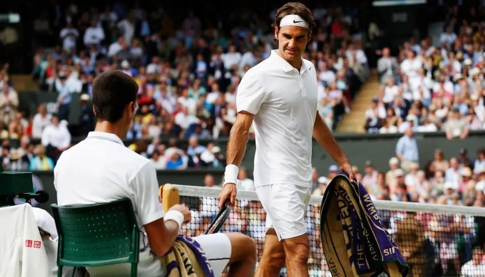 Federer mais perto do número quatro de Djokovic