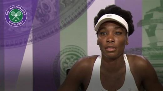 Ser fixe é ser fã de Roger Federer, diz Venus Williams
