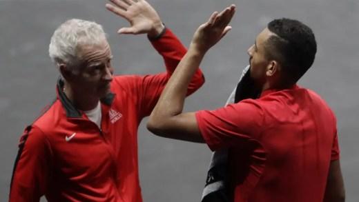 Kyrgios e McEnroe mandam arrufos para trás das costas na Laver Cup
