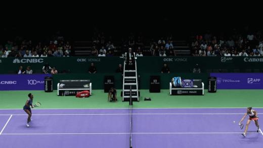 WTA Finals. As contas do Grupo Branco após o primeiro dia e a ordem de encontros para segunda-feira
