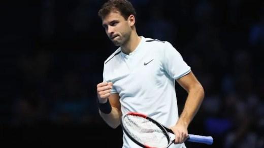 Grigor Dimitrov arrasa David Goffin e já está nas meias-finais das ATP Finals