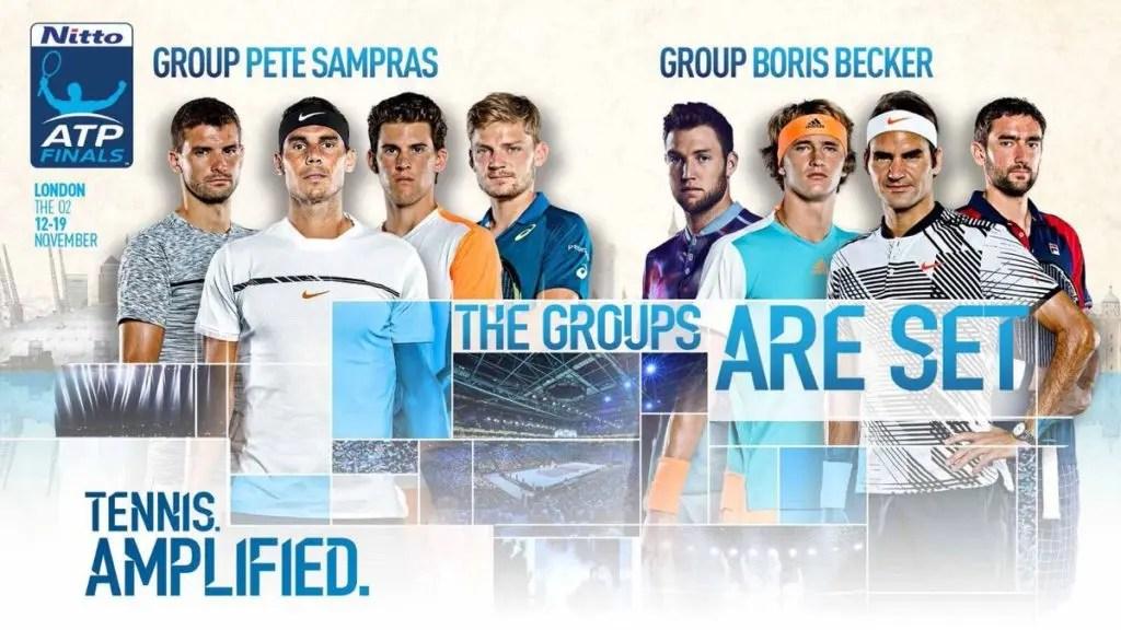 Veja o sorteio dos grupos de simples do ATP Finals
