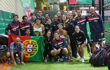 Portugal segue imbatível no Campeonato Europeu de Padel