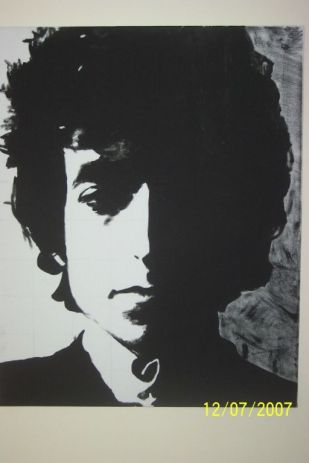 Bob Dylan; Acrylic, Paper