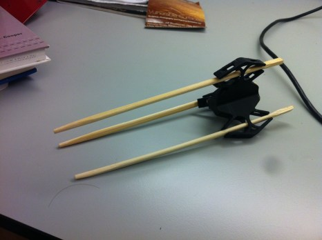 Tri-Chopstick; First prototype; FDM