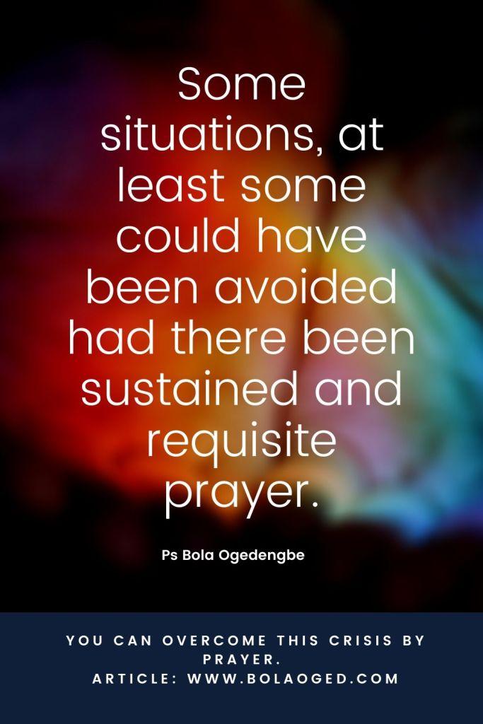 prayer to overcome crisis