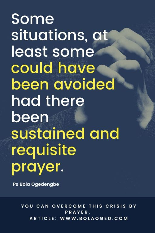 prayer to overcome crisis