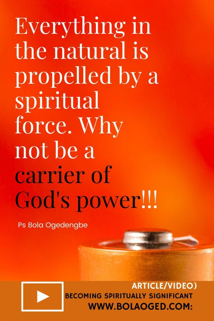 carriers of the power of God