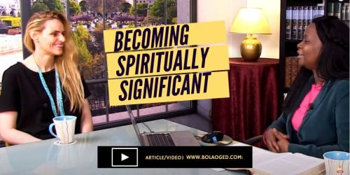 live a spiritually significant life
