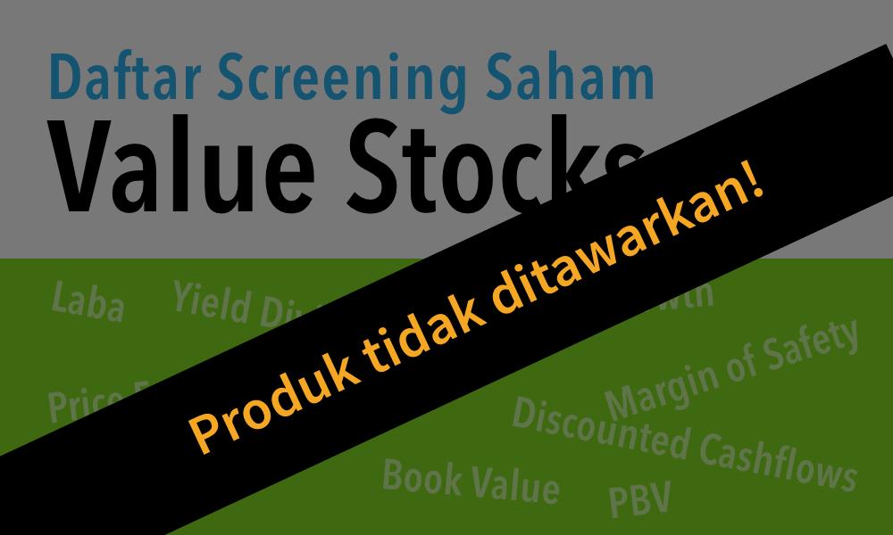 Value Stocks Dihentikan tidak ditawarkan