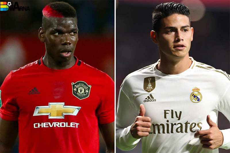 MU Dan Real Madrid Tukar Paul Pogba Dengan James Rodriguez
