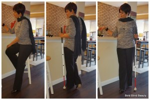 Outfit #2 - (Tri-photo collage) Black pants and black shoes