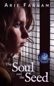 The Soul and the Seed Book cover with a profile headshot of Arie looking deep in thought. as her wavy brown hair frames her face.
