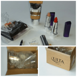 Photo grid of my order from Ulta