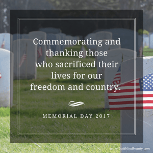 Military headstones and American flags. Commemorating and thanking those  who sacrificed their lives for our freedom and country. Memorial Day 2017