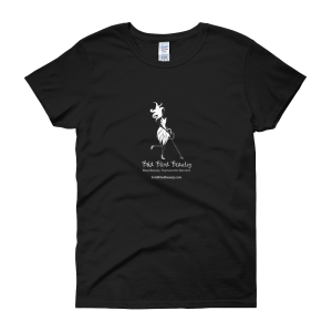 Bold Blind Beauty Black Tee with white ink