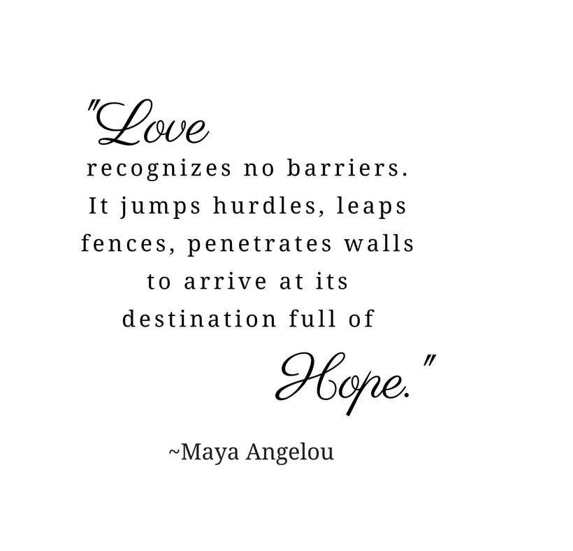 "Valentine's Day quote is in the body of the post. The image is black text on a white background. The words ""Love"" and ""Hope"" are emphasized in oversized cursive text."