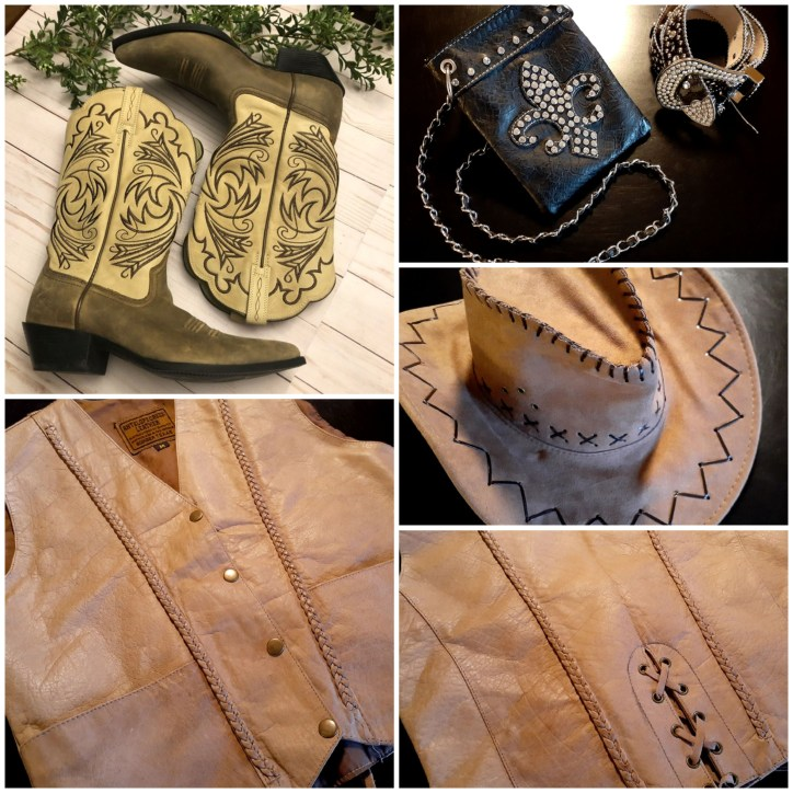 Cowgirl Gear Collage is described in the body of the post.