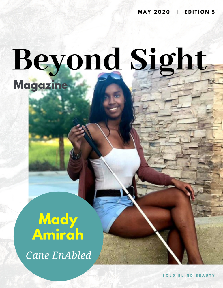 Beyond Sight Magazine cover is described in the body of the post
