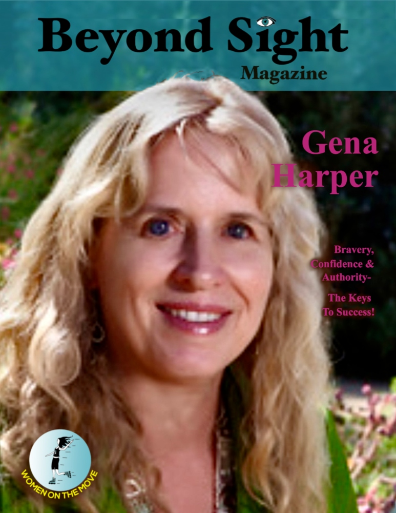 Gena Harper Beyond Sight Magazine image is described in the body of the post