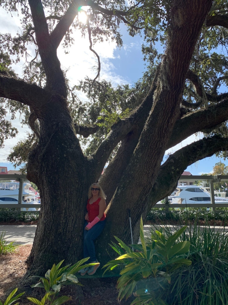 Bravery, Confidence & Authority Image description: Gena in a 300 year old tree