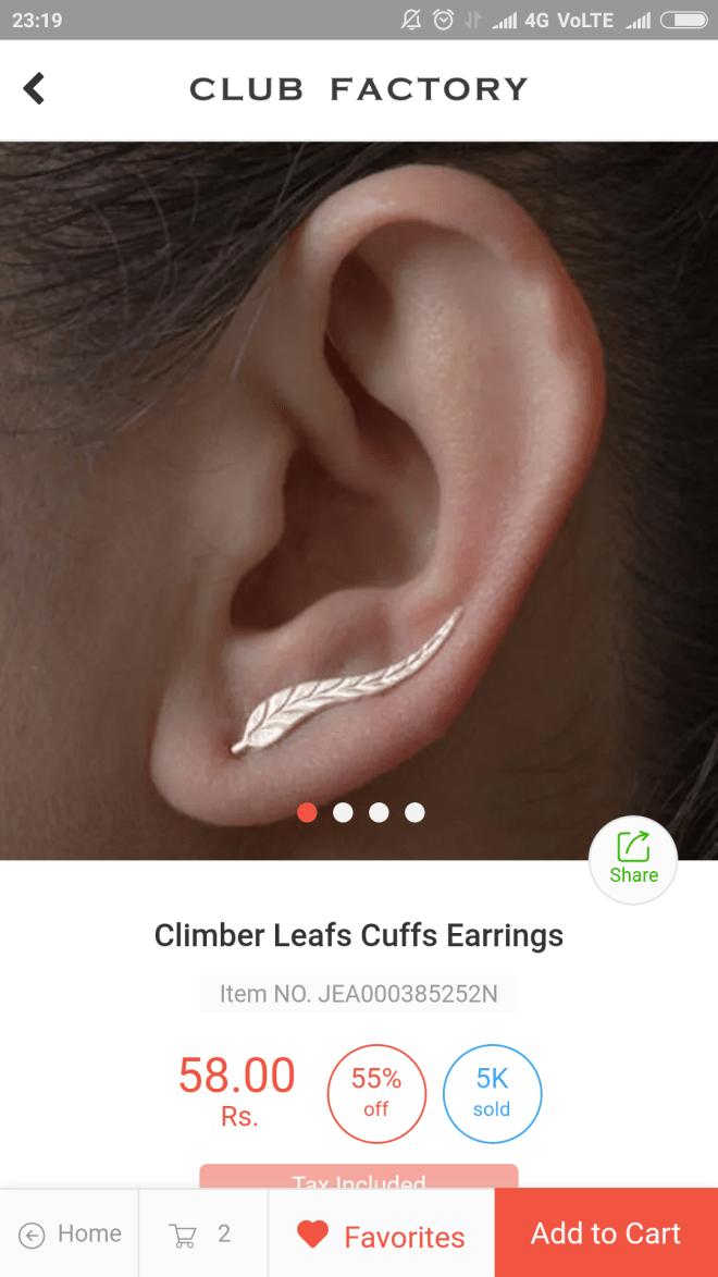 leaf cuff