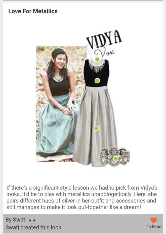 Vidya vox look