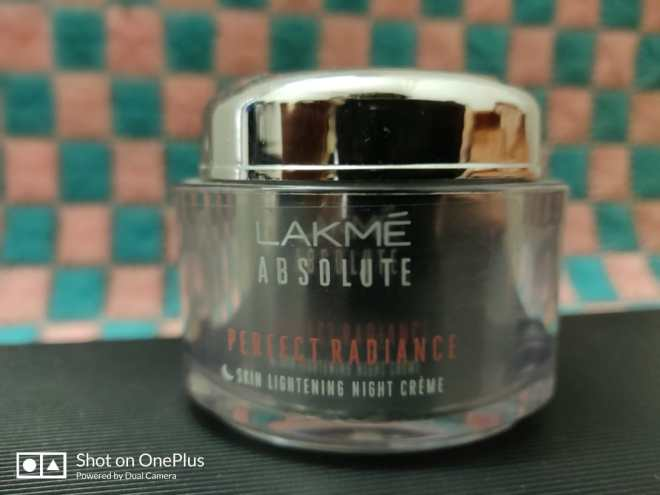 Night cream winter skin care