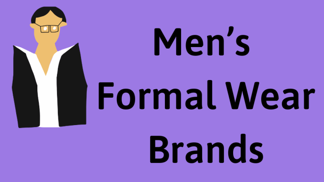 Men formal brands