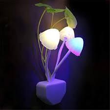 green plants night light