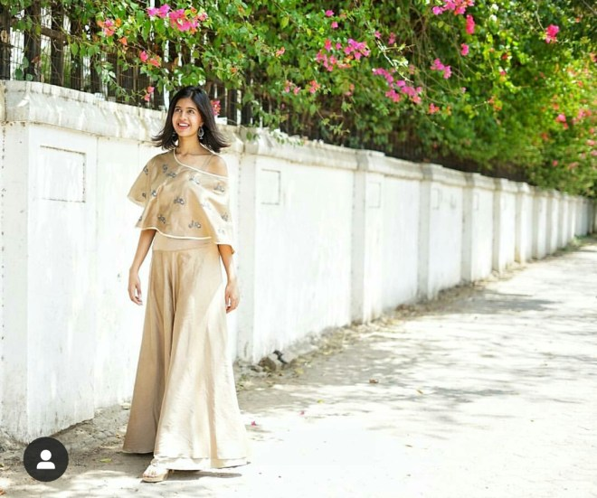Sejal Kumar gold dress