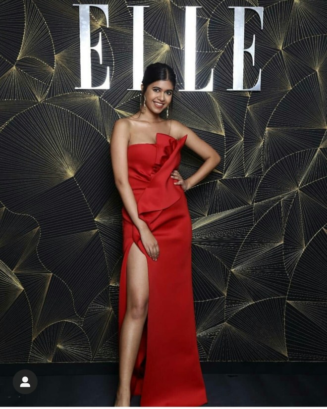Sejal Kumar red dress