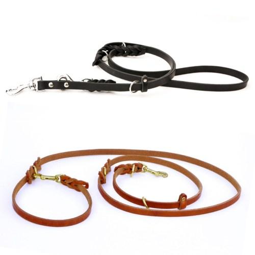 8 way sq 2019 - 8-Way Lead™ - versatile leather leash (6 or 8 feet long)