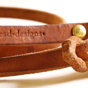 beautiful detail brand2 - Custom Designed Leather Dog Leash - the leash of your dreams!