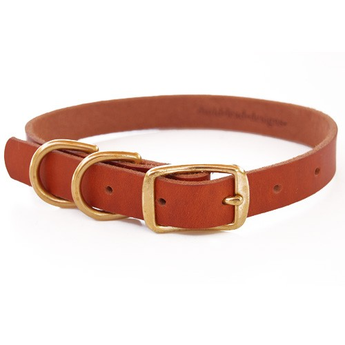 BLD's Double D-ring Leather Dog Collar