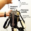 MSH diagram 1771 - Mobility Support Harness™ for brace and balance stability assistance