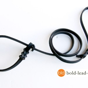 The Airport Lead™ -- a metal-free leather leash & collar for travel (no leash snap)