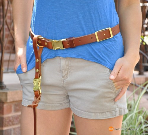 Leather Belt for attaching a leash to your waist
