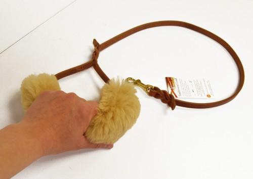 Sheepskin Wrap - leash or harness handle padded wrap