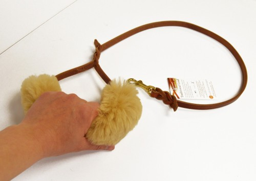 Sheepskin Wrap - leash or harness handle padded wrap